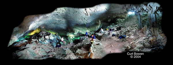 Oven Rock Cave, Abaco Bahamas  Created by capturing over 100 separate light painted images, the beauty of Oven Rock cave entrance is highlighted with the use of several positioned models for scale.