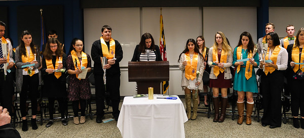 Phi Theta Kappa- Rho Beta Chapter Induction Ceremony Spring 2018