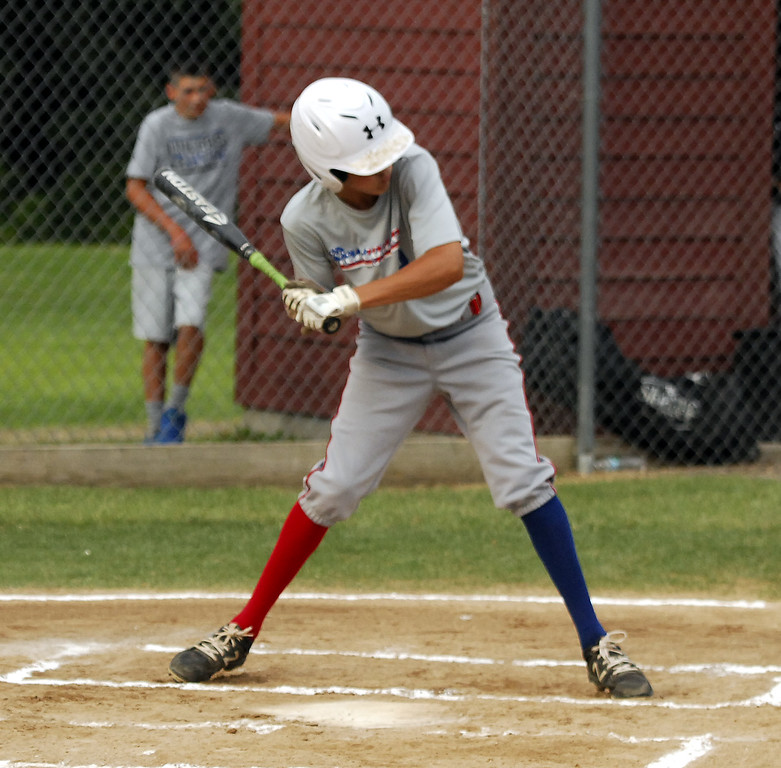 . STAN HUDY - SHUDY@DIGITALFIRSTMEDIA.COM Spring Youth Baseball 12U vs. Niskayuna at Indian Meadows Park, July 10, 2017.