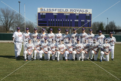 Blissfield Varsity Baseball Team Photo