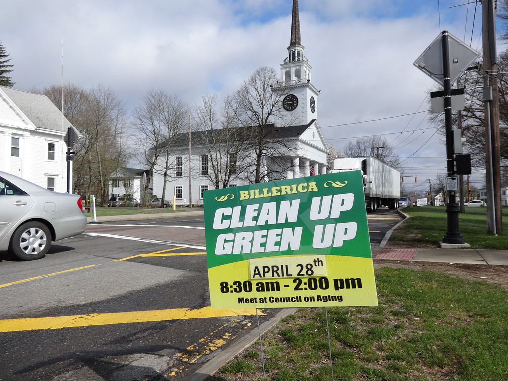 . Clean Up Green Up was held April 30 in Billerica. Photo by Mary Leach