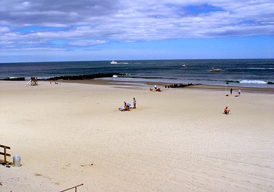 A warm Spring Day on the Beach in Spring Lake, New Jersey