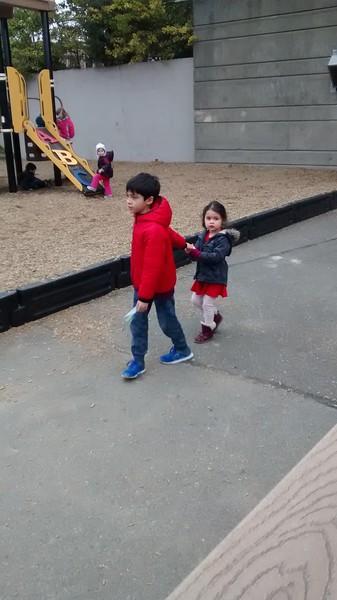 At pickup at Bon's daycare