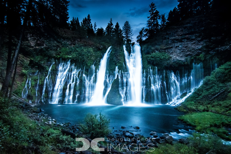 Burney Falls After Dark