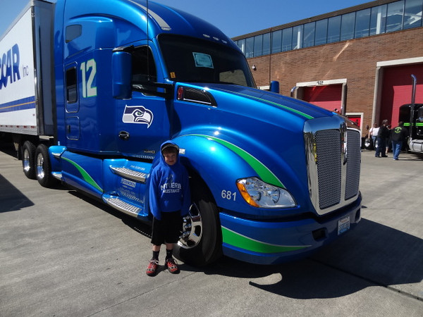 Nic & I attended the PACCAR open house.....