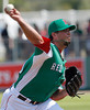 FORT MYERS, FL, March 17, 2012: Boston Red Sox pitcher Josh Beckett throws a pitch to a Baltimore Orioles batter in the first inning of a split-squad Grapefruit League spring training game at JetBlue Park at Fenway South. (Brita Meng Outzen/Boston Red Sox)