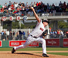 FORT MYERS, FL, March 4, 2012: Boston Red Sox pitcher Mark Melancon throws a pitch to a Minnesota Twins in the fifth inning of a Grapefruit League game at JetBlue Park at Fenway South. (Brita Meng Outzen/Boston Red Sox)