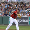 FORT MYERS, FL, March 22, 2012: The Boston Red Sox play the New York Yankees in a Grapefruit League spring training game at JetBlue Park at Fenway South. (Brita Meng Outzen/Boston Red Sox)