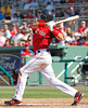 FORT MYERS, FL, March 24, 2012: Boston Red Sox batter Kolbrin Vitek swings at a pitch from Philadelphia Phillies pitcher Raul Valdes in the seventh inning of a Grapefruit League spring training game at JetBlue Park at Fenway South. (Brita Meng Outzen/Boston Red Sox)