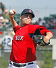 FORT MYERS, FL, March 24, 2012: Boston Red Sox pitcher Andrew Bailey throws a pitch during the seventh inning of a Grapefruit League spring training game against the Philadelphia Phillies at JetBlue Park at Fenway South. (Brita Meng Outzen/Boston Red Sox)