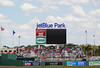 FORT MYERS, FL, March 27, 2012: Fans watch the Grapefruit League spring training game between the Boston Red Sox and Tampa Bay Rays from the lawn and bleachers in the outfield at JetBlue Park at Fenway South. (Brita Meng Outzen/Boston Red Sox)