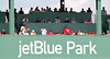 FORT MYERS, FL, March 27, 2012: Fans watch a Grapefruit League game between the Boston Red Sox and Tampa Bay Rays from the middle deck of the Green Monster in left field at JetBlue Park at Fenway South. (Brita Meng Outzen/Boston Red Sox)