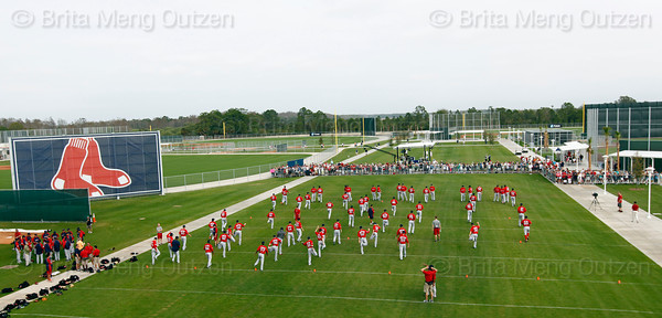 FORT MYERS, FL, Feb. 25, 2012: The Boston Red Sox hold the first full squad Spring Training workout. (Brita Meng Outzen/Boston Red Sox)