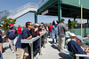 FORT MYERS, FL, March 4, 2012: Fans watch batting practice from the designated standing room area on the left field deck before the game between the Boston Red Sox and Minnesota Twins on Opening Day at JetBlue Park at Fenway South. (Brita Meng Outzen/Boston Red Sox)