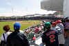 FORT MYERS, FL, March 4, 2012: Fans watch the Boston Red Sox play the Minnesota Twins from the designated standing room area on the left field deck before the game between the Boston Red Sox and Minnesota Twins on Opening Day at JetBlue Park at Fenway South. (Brita Meng Outzen/Boston Red Sox)