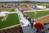FORT MYERS, FL, March 4, 2012: A long line of fans at Gate D wait to enter JetBlue Park at Fenway South for the game between the Boston Red Sox and Minnesota Twins. (Brita Meng Outzen/Boston Red Sox)