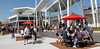 FORT MYERS, FL, March 4, 2012: Fans enjoy a pregame meal while seated at shaded picnic tables at Fenway South before the JetBlue Park Opening Day game between the Boston Red Sox and Minnesota Twins. (Brita Meng Outzen/Boston Red Sox)