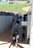 FORT MYERS, FL, March 4, 2012: Fans walk down the stairs from the left field grandstand and box seats to the concourse behind third base between innings of the Boston Red Sox game at JetBlue Park at Fenway South. (Brita Meng Outzen/Boston Red Sox)