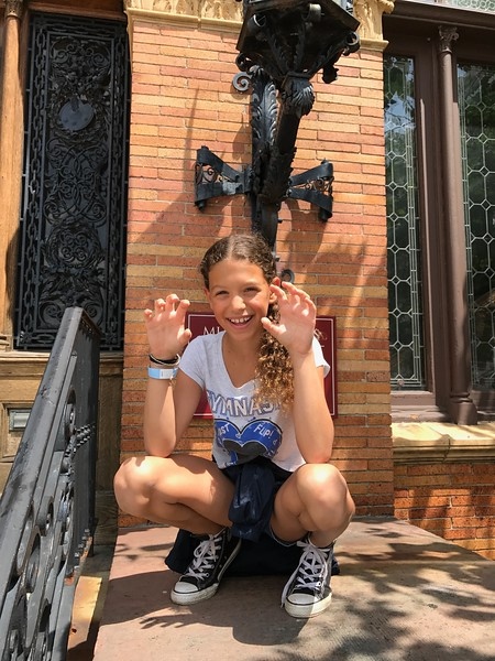 Hailey outside the Museum