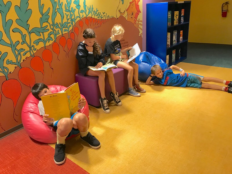 Most of the gang enjoyed reading