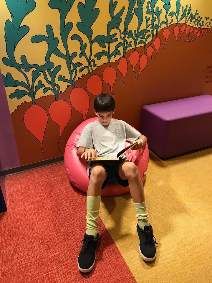 Carson reading