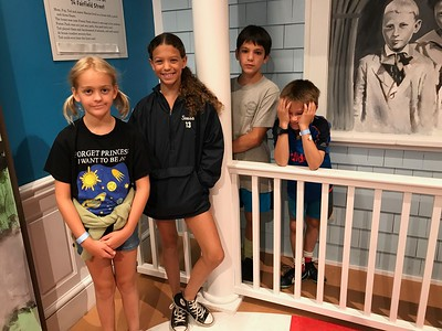 Allegra, Hailey, Carson and Miller at Dr. Seuss Museum