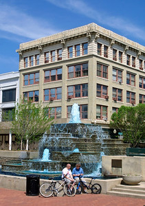 Downtown Fountain in Park Central Square