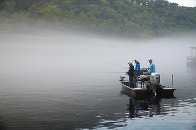 Fishing on Lake Taneycomo
