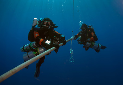 Challenger Bank Site Two - top of wall starts at 215 fsw and max depth of dive 448 fsw
