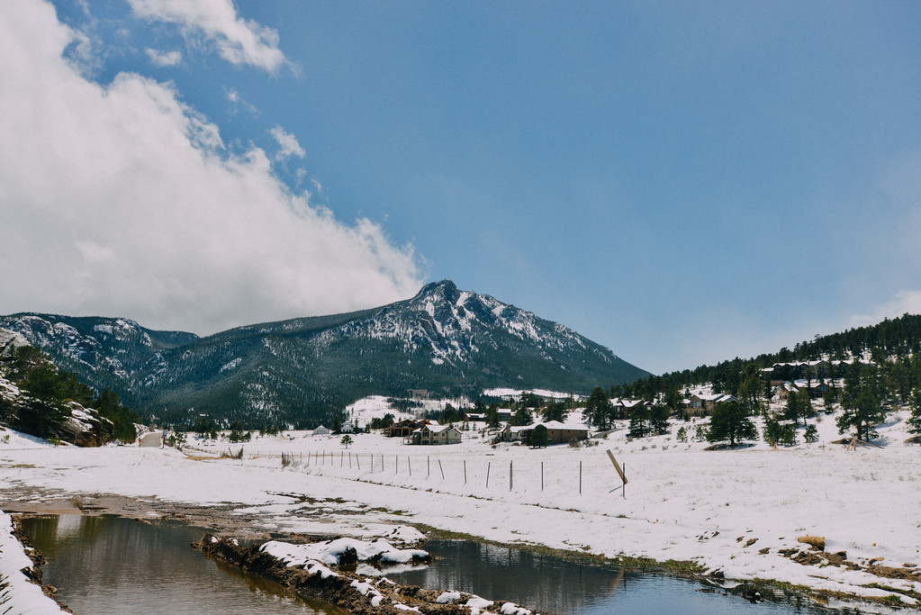 . Snow covered Peak in Estes Park. (Bob Wooley/Trail-Gazette)
