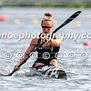 Lisa Carrington (NZL) in the heat of the women's K1 500m event at the first ICF Canoe Sprint World Cup in Duisburg, Germany