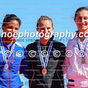 Medalists of the women's K1 200m event (L-R): Yusmari Rodriguez (CUB), Lisa Carrington (NZL), Sarah Guyot (FRA) in Montemor-o-Velho, Portugal at the ICF Canoe Sprint World Cup.
