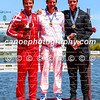 Medalists of the men's K1 500m event (L-R): Adam van Koeverden (CAN), Cyrille Carre (FRA), Marty McDowell (NZL) in Montemor-o-Velho, Portugal at the ICF Canoe Sprint World Cup.