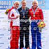 Women's K1 200m medals (L-R): Marta Walczykiewicz (POL), Lisa Carrington (NZL), Nikolina Moldovan (SRB)