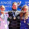 Podium shot of the women's K1 200m event at the ICF Canoe Sprint Junior/U23 World Championships in Pitesti, Romania (L-R): Dora Lucz (HUN), Aimee Fisher (NZL), Biljana Relic (SRB).