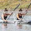Jaimee Lovett and Aimee Fisher on their way to victory in the women's kayak double 200m event at the ICF Canoe Sprint World Cup in Racice, Czech Republic.