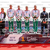Medalists of the women's K4 500m event at the ICF Canoe Sprint World Championships in Racice, Czech Republic (L-R): Germany, Hungary, New Zealand