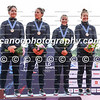 Team New Zealand on the podium of the women's K4 500m event at the ICF Canoe Sprint World Championships in Racice, Czech Republic (L-R): Amiee Fisher, Kayla Imrie, Lisa Carrington, Caitlin Ryan