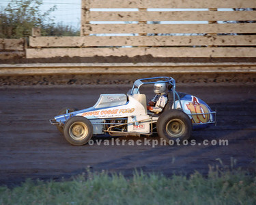 10a - Terry Gray in one of the Bruce Cogle sprinters