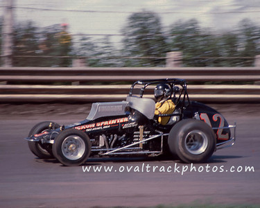 12 - Mike Brooks of Knoxville, Iowa who won the Wed night A-main with a perfect 500 score.