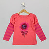 Puff Sleeve 2Fer Calypso Coral