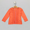 Lace Trim Tee Persimmon