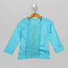 Lace Trim Tee Blue Radiance