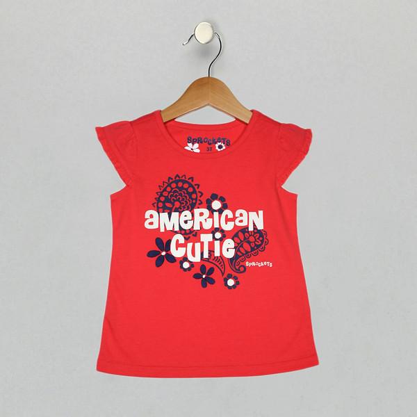 Americana Tee - Hibiscus