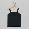 Ruffle Front Tank - Anthracite