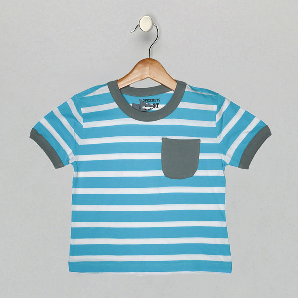 League Stripe Tee - Blue