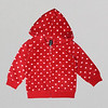 Girls Red Hearts Fleece Hoodie