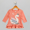 Girls Princess Orange Top