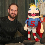 Shaun Hennessey and Super Sam of City Comics.