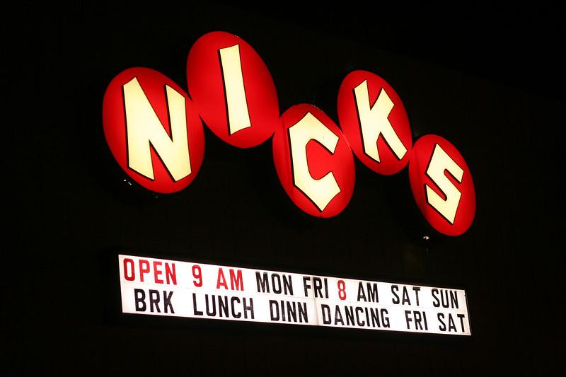 Nick's Restaurant Sign